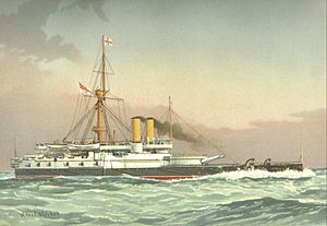 22juin-HMS_Victoria_(1887)_William_Frederick_Mitchell