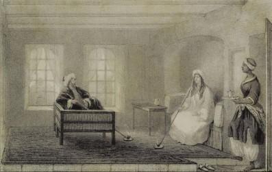 Lady Stanhope recevant dans sa maison