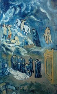 Picasso, Pablo (1881-1973): Evocation l'enterrement de Casagemas. 1901. Paris, Musee d'Art Moderne de la Ville de Paris*** Permission for usage must be provided in writing from Scala.