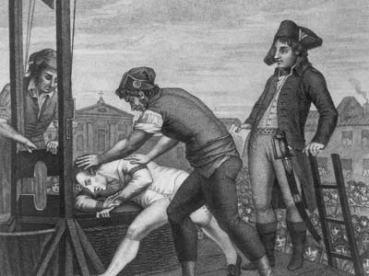 Robespierre à la guillotine