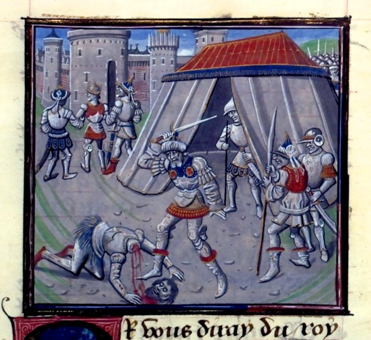 3juillet-Mort-de-Renaud-de-Chatillon-15th-c-illumination-in-Historia-by-Guillaume-de-Tyr-William-of-Tyre-BNF-Mss.Fr_.68-folio-399.