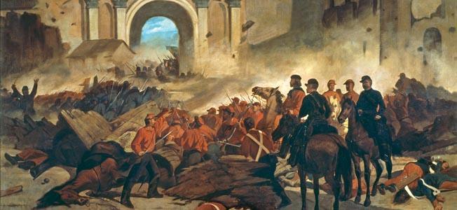 Garibaldi in Palermo / Fattori - Garibaldi in Palermo / Paint.by Fattori -