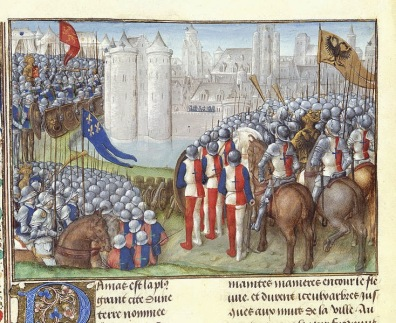 20aout-Crusaders_besieging_Damascus_-_Chronique_d'Ernoul_et_de_Bernard_le_Tr_sorier_(late_15th_C),_f.280v_-_BL_Royal_MS_15_E_I