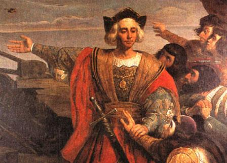 Christophe Colomb atteint le Nouveau Monde