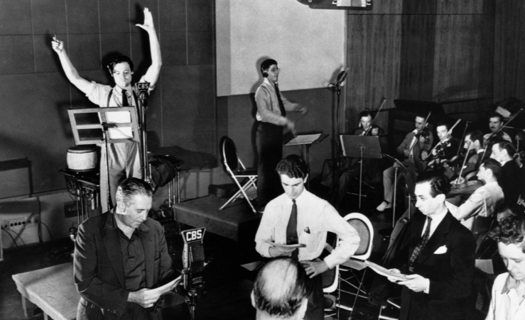 30 octobre -Mercury-Theatre-Radio-Rehearsal-1938