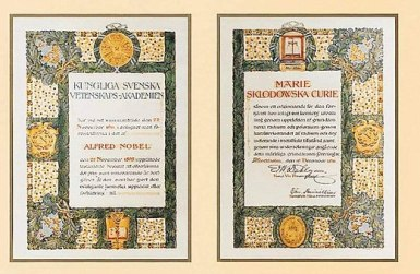 5 novembre - 520px-Marie_Skłodowska-Curie's_Nobel_Prize_in_Chemistry_1911 - Copy